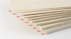 Free Shipping AAA+ Balsa Wood Sheet ply 500mm long 100mm wide 1/1.5/2/3/4/5/6/8/10mm thick for airplane/boat model DIY
